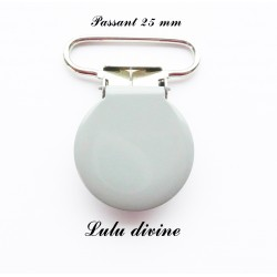 Pince ronde 25mm gris
