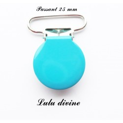 Pince ronde 25mm turquoise