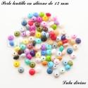 Perle en silicone lentille Ø 12 mm