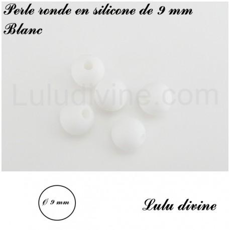 Perle en silicone ronde Ø 9 mm
