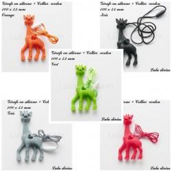Girafe en silicone