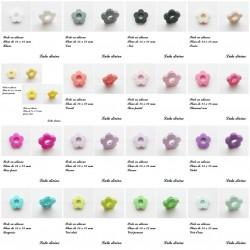 Perle en silicone Fleur