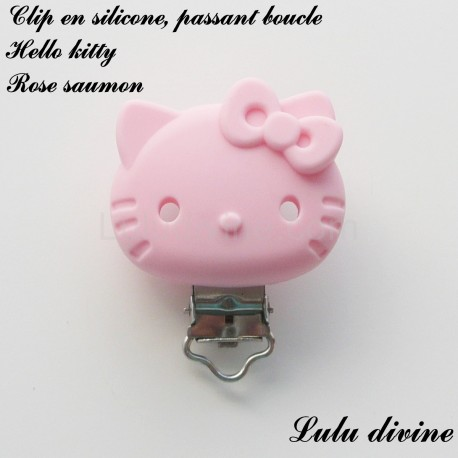 Clip silicone boucle Hello kitty