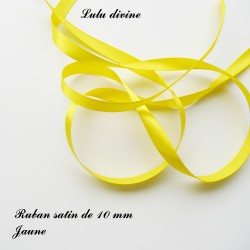 Ruban satin 10 mm Jaune (22m)