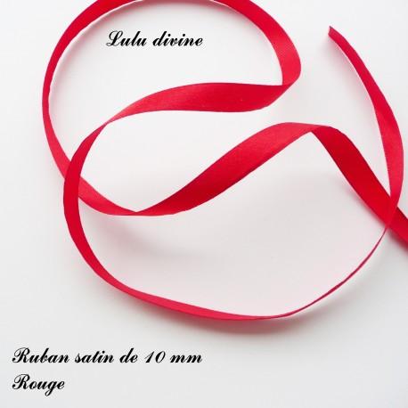 Ruban satin 10 mm Rouge (22m)