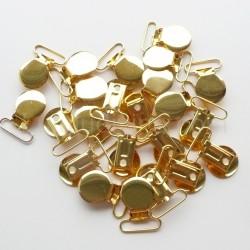 Pince Ronde 25 mm Métal doré