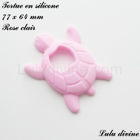 Tortue en silicone Rose clair