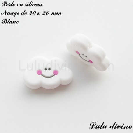 Perle en silicone Nuage