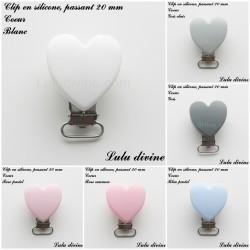 Clip silicone 20 mm Coeur