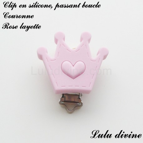 Clip silicone boucle Couronne