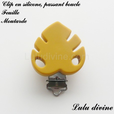 Clip silicone boucle Feuille