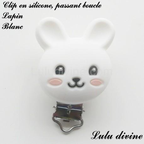 Clip silicone boucle Lapin