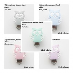 Clip silicone boucle Hibou