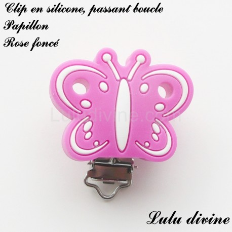 Clip silicone boucle Papillon