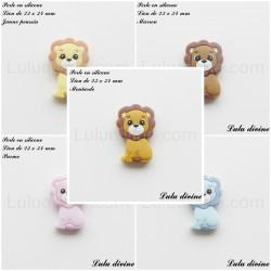 Perle en silicone Lion