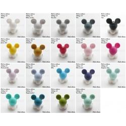 Perle en silicone ronde Gros Mickey
