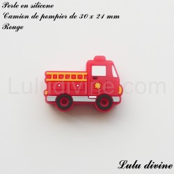 Perle en silicone Camion de pompier
