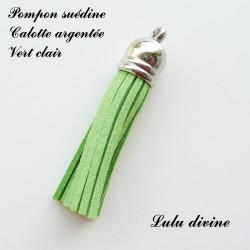 Pompon Argenté 6 cm Vert clair
