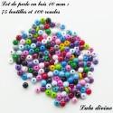 Perle en bois Lentille & Ronde (175 perles)