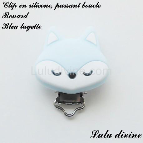 Clip silicone boucle Renard