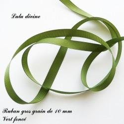 Ruban gros grain 10 mm : Vert foncé