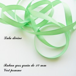 Ruban gros grain 10 mm : Vert pomme