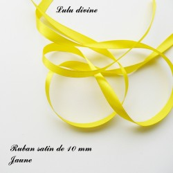 Ruban satin 10 mm Jaune