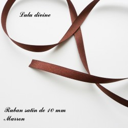Ruban satin 10 mm Marron