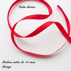 Ruban satin 10 mm Rouge