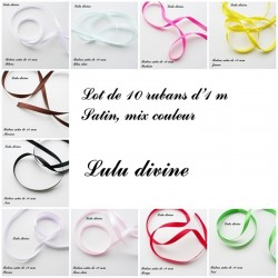 Mix de Ruban satin 10 mm