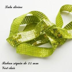 Ruban séquin 25 mm Vert clair