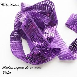 Ruban séquin 25 mm Violet