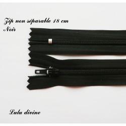 Fermeture éclair 18mm noir