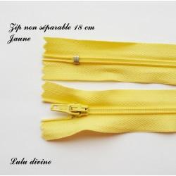 Fermeture éclair 18mm jaune