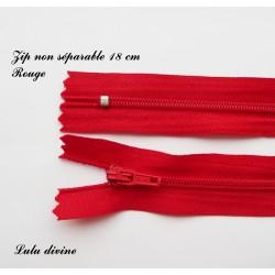 Fermeture éclair 18mm rouge