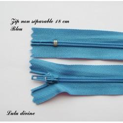 Fermeture éclair 18mm bleu