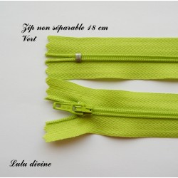 Fermeture éclair 18mm vert