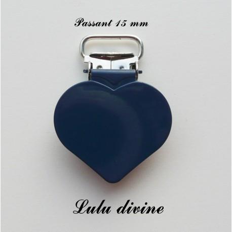 Pince coeur 15 mm Bleu marine