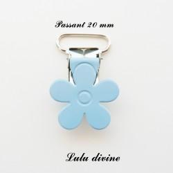 Pince fleur 20 mm Bleue claire