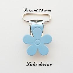Pince fleur 25 mm bleu clair