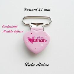 Pince coeur 25 mm : Fait par maman (rosecoeur)
