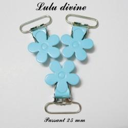 Pince fleur 25 mm bleu