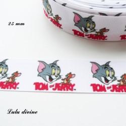 Ruban blanc Tom & Jerry de 22 mm