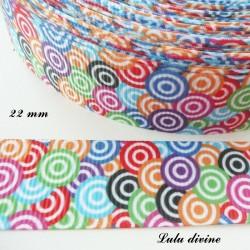 Ruban multicolore Cibles de différente couleur de 22 mm