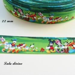 Ruban fond paysage Mickey & ses amis tirent à la corde de 22 mm