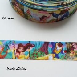 Ruban effet scène La Belle & la Bête de 25 mm