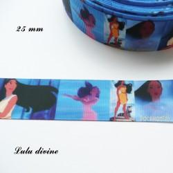 Ruban effet scène Pocahontas de 25 mm