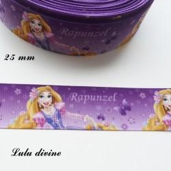 Ruban violet Princesse Raiponce de 25 mm