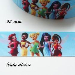 Ruban bleu - La fée clochette & ses amies - corp entier de 25 mm