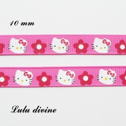 Ruban Rose Hello Kitty de 10 mm